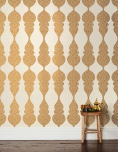 Brass wallpaper by Karla Pruitt