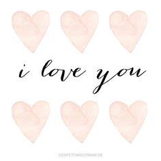 papeterie, wedding invitation www.confettiandcream.de Calligraphy Words, I Love You, My Love, Confetti, Wedding Designs, Wedding Invitations, Messages, Cream, Wall