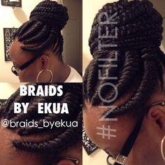 Women Hairstyles Shoulder Length Painless braiding style by Braids By Ekua - blackhairinformat. Ethnic Hairstyles, Elegant Hairstyles, Braided Hairstyles, Cool Hairstyles, Braided Updo, Headband Hairstyles, Natural Braids, Natural Hair Tips, Natural Hair Styles