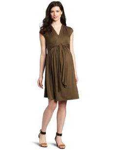 Ripe Maternity Women's Chic Knit Dress, Dill, Medium Ripe Maternity. $46.00