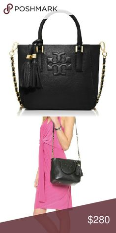 NEW Tory Burch Thea Mini Bucket Bag New with tags. Tory Burch Thea Mini Bucket Bag. Style no. 22149653. Length 8.5 inches. Height 8 inches. Depth 6 inches. Retail $395 plus tax.  NO TRADES. PRICE FIRM. This is the lowest price. Ships within 1 to 2 business days. $240 on merc. Tory Burch Bags