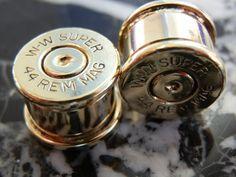 44 Magnum Ear Plugs. $20.50, via Etsy.