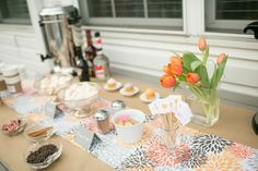 Great idea for a bridal shower: How To Hot Drink Bar + Free Printable
