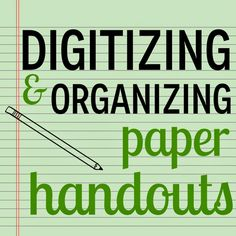 Tame those Stacks of Paper! Digitizing and Organizing Paper Handouts with DocScan HD