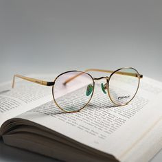Gold vintage inspired frames by Fisaly Eyewear. Round Eyeglasses, Vintage Inspired, Eyewear, Frames, Gold, Instagram, Eyeglasses, Frame, Sunglasses