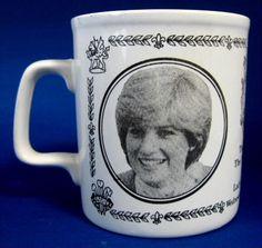 Souvenir Royal Wedding Mug Charles And Diana Ceramic 1981 Photos