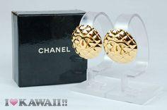 Chanel Gold Matelasse Clip-on Earrings
