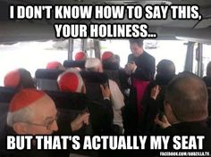 """Il Papa in autobus con i cardinali"" The Pope in the bus with Cardinals Antonio Spadaro SJ Humor Religioso, New Pope, Religious Humor, Religious Icons, Catholic Memes, Christian Humor, My Church, Pope Francis, Pope John"