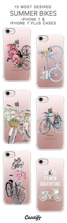 15 Most Desired Summer Bikes Protective iPhone 7 Cases and iPhone 7 Plus Cases. More Bicycle iPhone case here > https://www.casetify.com/collections/top_100_designs#/?vc=23AgNputPj