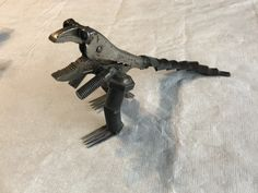 Metal art T-Rex made out of vice grips