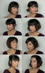 Varios peinados, pelo corto