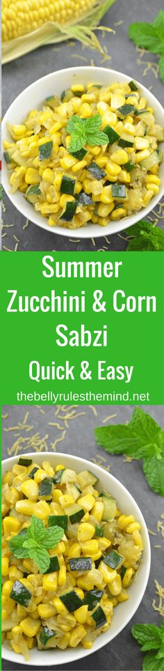 This  Zucchini & Corn Sabzi/ Saute is packed with flavor ! This is a perfect savory dish to celebrate summer @dbellyrulesdmind