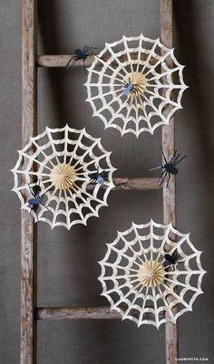 #Halloween #Halloweendecor #Spiderweb www.LiaGriffith.com: