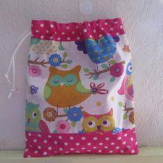 Pochon, sac fourre-tout enfant, sac pour goûter, serviette de cantine, lingerie, jouets