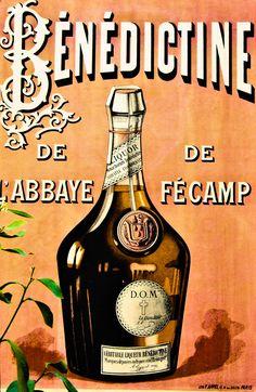 La Bénédictine est une liqueur inventée vers 1862. Ce n'est pas du calvados mais elle vise la même clientèle. Habilement son fabriquant la promeut comme un alcool mis au point au monastère de Fécamp dès le XVIe siècle.