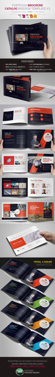Business Trifold Brochure Template, Brochures and Business