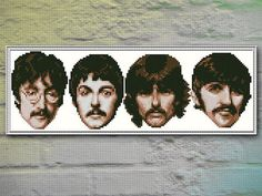 The BEATLES Cross Stitch Pattern PDF FILE