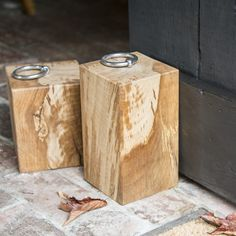 Personalised Oak Door Stop by Natural Wood Company, the perfect gift for Explore more unique gifts in our curated marketplace. Wood Company, Door Stopper, Timber Frame Homes, Oak Doors, Stainless Steel Rings, Autumn Trees, Natural Wood, Unique Gifts, Carving