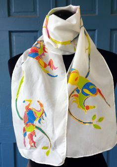 Gorgeous Horse silk scarf. Original art. by onroadartists on Etsy  by M Theresa Brown