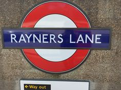 Rayners Lane London Underground Station in Harrow on the Hill, Greater London