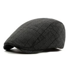 3a8bc8c92ecc1 Men's Vintage Retro Plaid Beret Hat - Coffee,Black,Gray Outfit Colour Mens  Style