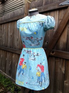 Sweet Little Star Trek Dress Upcycled by BongaChopShop on Etsy, $150.00