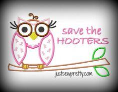 Save the Hooters Owl Applique $2  ~ Design Idea -- For Rachel & Jean?
