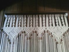 Hey, I found this really awesome Etsy listing at https://www.etsy.com/listing/186299955/bead-fringed-door-curtain-in-macrame