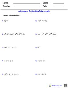 Worksheets Adding Monomials Worksheet adding and subtracting binary worksheets math aids com identifying the degree of monomials polynomials worksheets