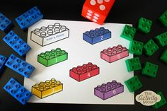Your preschooler will love this Lego Dice Game and you will love how it sneaks in a little counting practice at the same time! Lego Bump and Free Lego Games, Printable Activities For Kids, Kids Learning Activities, Dice Games, Math Games, Fun Learning, Preschool Activities, Minecraft Activities, Counting Games