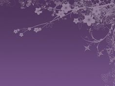 Purple tree branch PPT Backgrounds