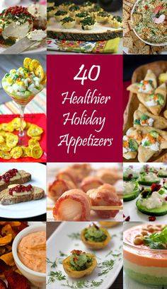 40 Healthier Holiday Appetizers...an INCREDIBLE recipe collection from our food blogging friends organized by Sumptuous Spoonfuls! Don't miss it!