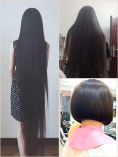 Long Hair Cuts, Long Hair Styles, Bald Hair, Amazing Hair, Cute Little Girls, Rapunzel, Short Hairstyles, Gorgeous Women, Her Hair