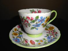 Shelley China Begonia One Cup Teapot