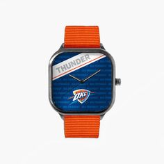 Oklahoma City Thunder 2016 Playoffs Metal Watch with an Orange Strap