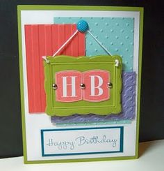 Stampin' Up Card...think the layout needs a little work but I love the letters in the Frame