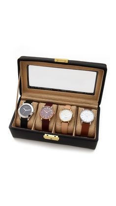 Gift Boutique Genuine Leather 4 Watch Case