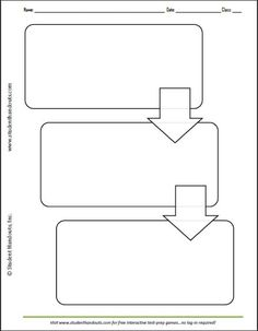 Three Box Flow Chart   Worksheet Also Available With 2, 4, And 5