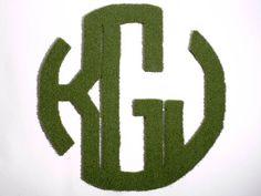 Monogram Synthetic Grass Doormat Rug Wall Art Decor by agokc Artificial Grass Rug, Fake Grass, Green Grass, Astro Turf, Wall Art Decor, Rugs, Monogram Doormat, Backyard, Patio