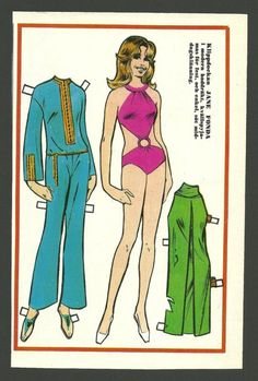 Swedish paper doll of Jane Fonda / eBay
