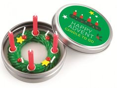 Spread Christmas Cheer everywhere you go with the portable Happy Advent Candle from Gifts.co.uk!