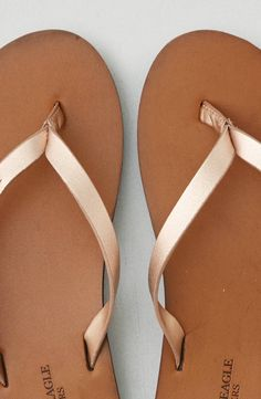 d0f788c1b2df AEO Braid Leather Flip Flop by American Eagle Outfitters