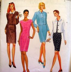McCALLS SEWING PATTERN - 8647 - Womens SZ 8,10,12 UNLINED/LINED BOLERO JKT - DRESS