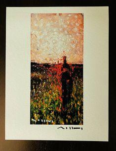 "Giclee Art Print: MUTATIO ""The Night's Vanquish"", Limited Edition Hand Signed Giclee Art Print on Textured Photo Rag Plaster Sculpture, Sumi Ink, Cubism, Limited Edition Prints, Giclee Print, Ea, Authenticity, Certificate, Fine Art"