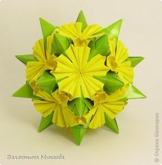 Master class Kusudama: Modular flowers for kusudamy + MK Paper.  Photo 1