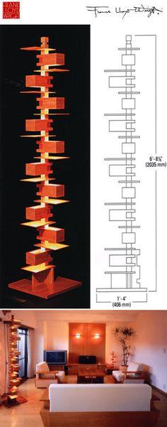Yamagiwa: Frank Lloyd Wright Taliesin 2 floor lamp   NOVA68 Modern Design