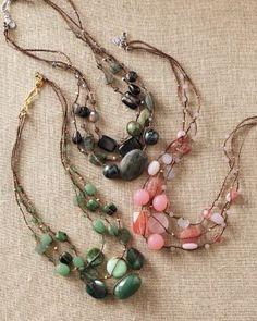 Chan Luu Three-Strand Semiprecious Necklace