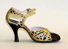 Sandales de soirée en cuir coupé, ca.Fin des années 1920 - début des années 1930  Morris Wolock & Co.