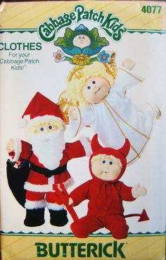 Butterick 4077 Vintage 1986 Pattern for Cabbage Patch Kids Costumes Transfer Unused, via Etsy.