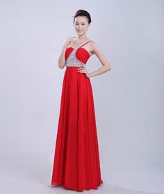 red one shoulder prom dress $60